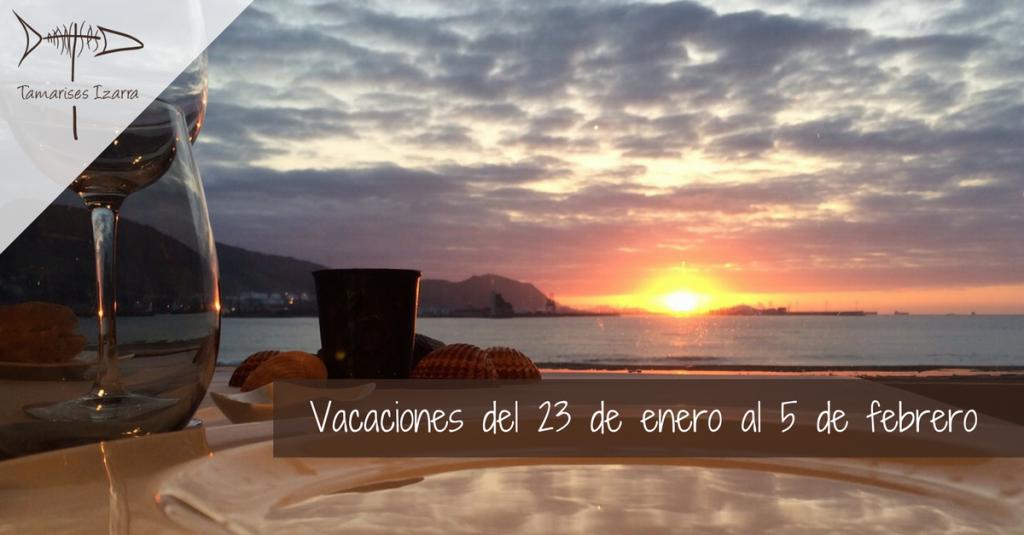Vacaciones del 23 de enero al 5 de febrero
