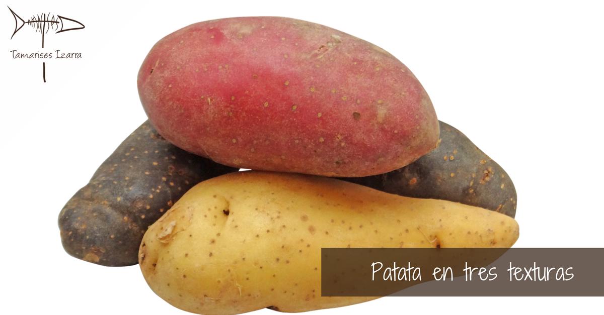 Patata en tres texturas